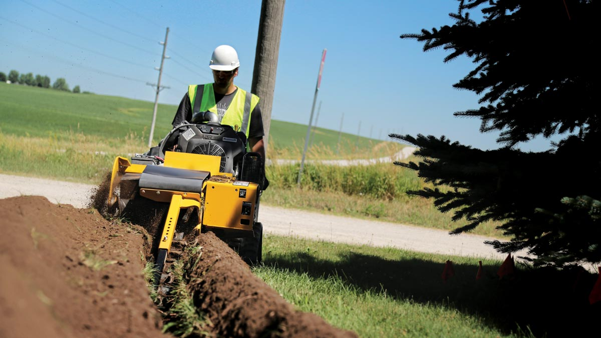 vermeer tree care trencher
